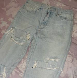 Ankle rip jeans